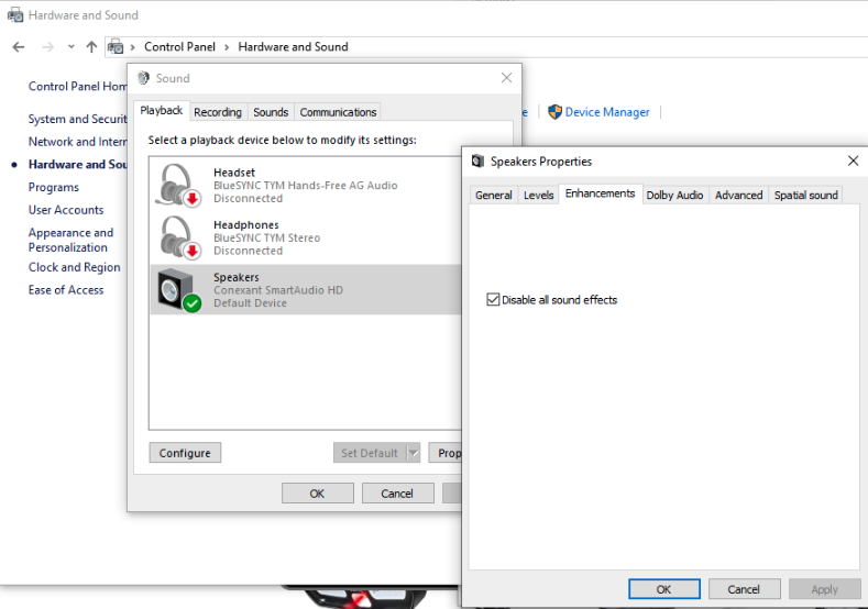 No Sounds On Your Video Disable Your Audio Enhancements Windows10 Users Loom